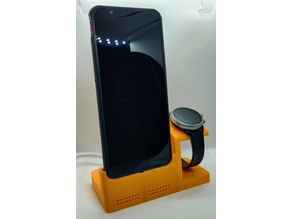 Magnetic phone and watch charging stand