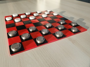 Magnetic Checkers Game (Ger.: Dame)