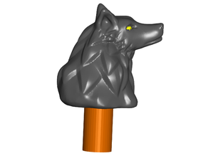 Stylized Wolf Topper ($7 Cane/Walking Hiking Sticks)