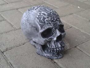 Skull Geocaching Container