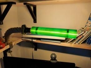 Lamp shade for long tube COB (LED) bulb