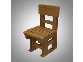 Wooden chair miniature