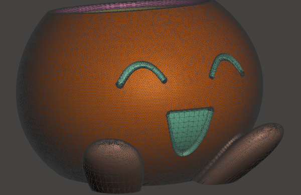 Oddish Planter Remeshed Smoothed