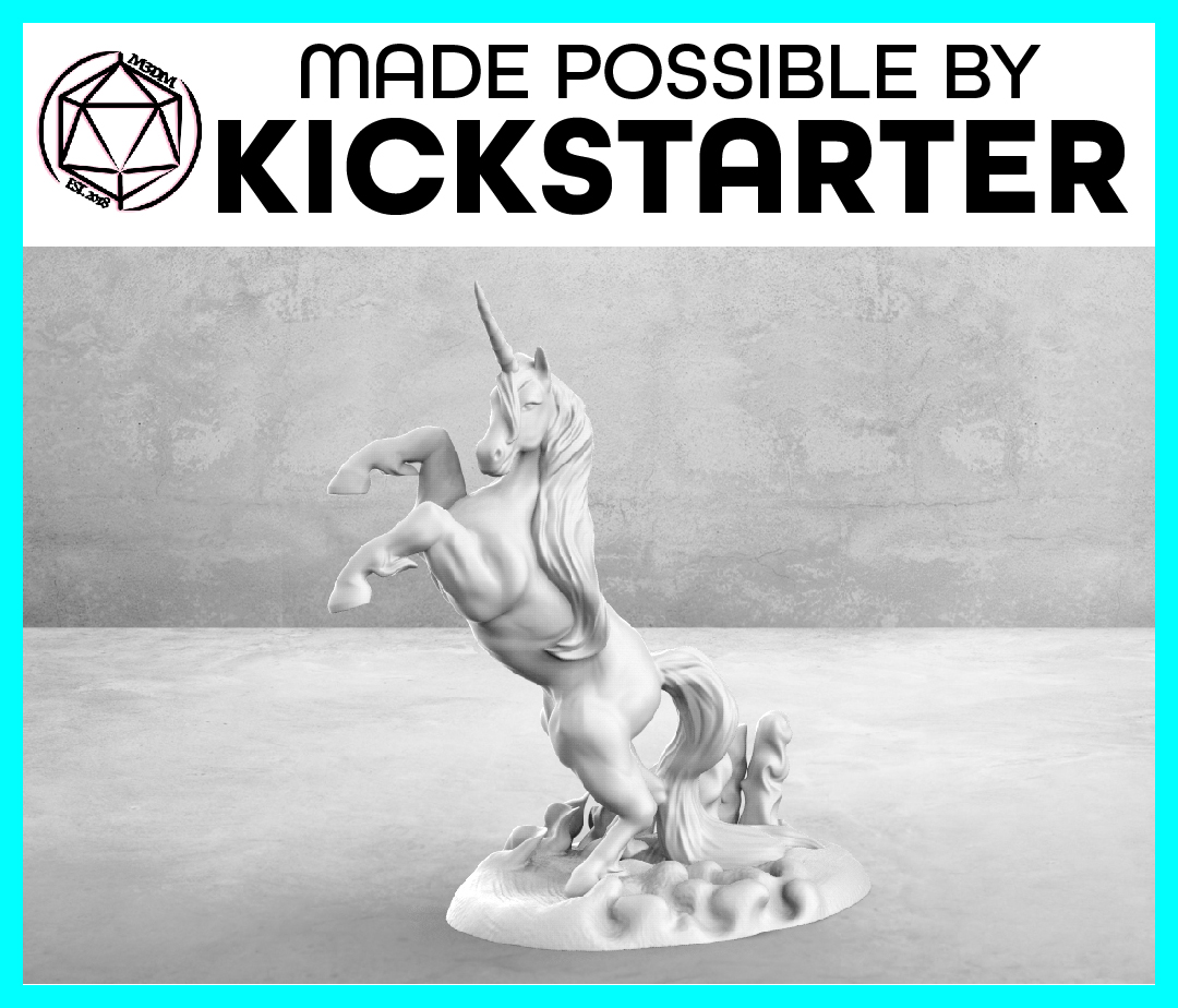 Unicorn - Action Pose - Tabletop Miniature