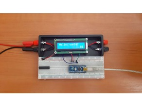 Breadboard holder with 1602LCD