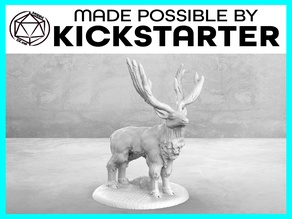 Stag - Casual Pose - Tabletop Miniature