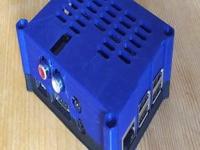 Raspberry Pi 2 or 3 case for the HiFi DAC Es9023 X900