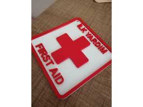 First Aid - İlk Yardım Sign