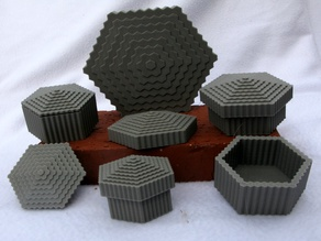 A Decorative Hexagonal Container