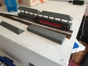 N-Gauge Simple Train Platform