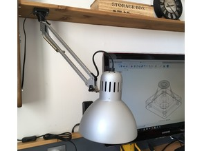 Ikea tertial lamp upside-down attachement