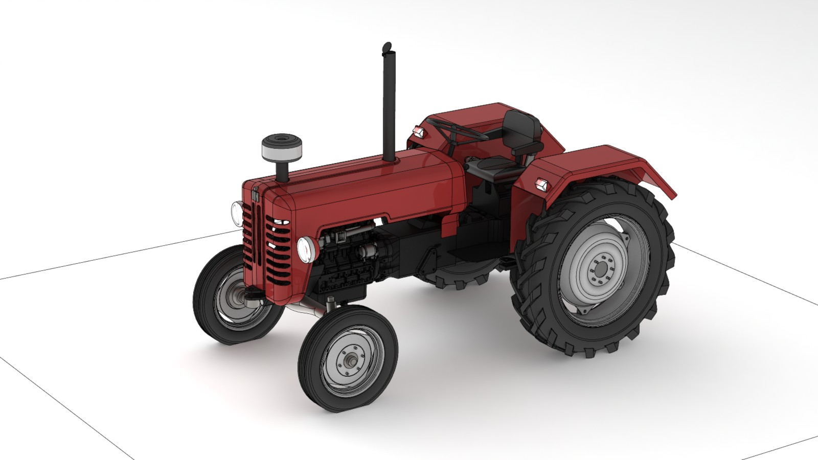 image of mc cormick d326 tractor thingiverse. Black Bedroom Furniture Sets. Home Design Ideas