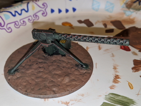 Vintage Machine Gun Terrain Model