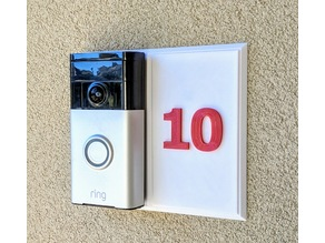 Ring Doorbell Wall Mount with House Number
