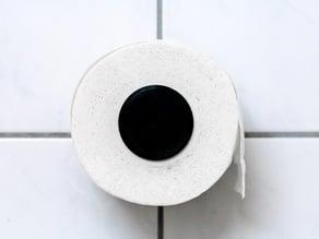 Hyper Minimalistic Toilet Paper Spool Holder