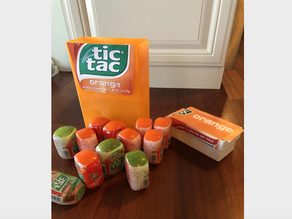 GIANT Tic Tac Container - Holds 12 Large Tic Tac Bottles!