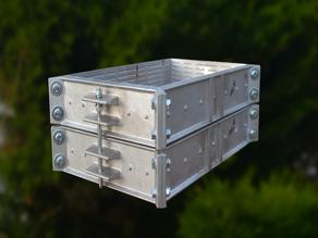 Modular Flasks V6.7 - A modular 3d printed pattern system for casting your own metal casting flasks