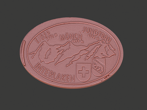 Eiger, Moench and Jungfrau Elongated Coin