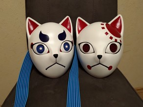 Tanjiro's / Giyu's fox mask from Kimetsu no Yaiba