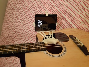 Smartphone support for Accoustic Guitar