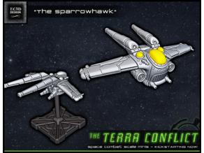 """The Sparrowhawk"" - Space-combat scale mini"