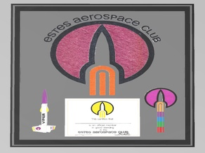 Multi-Material Estes Aerospace Club Mounted Certificate
