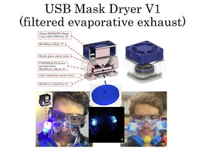 Mask Dryer USB filtered Exhaust