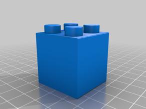 Duplo compatible 2x2 90 degree plane change block
