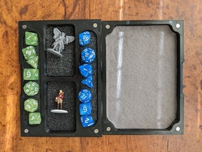 Dice and Mini Box with Rolling Tray