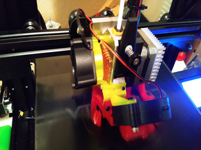 40mm fan mount upgrade for trianglelab al-bmg-air dual drive extruder