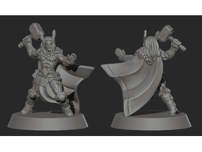 Thor god barbarian or viking miniature