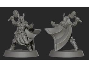 Thor god barbarian or viking miniature