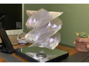 Levitating Low Poly Disco Vase