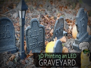 Graveyard Lights with automatic LED Lights