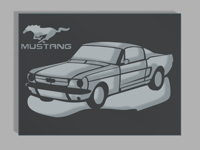 Ford Mustang airbrush stencil