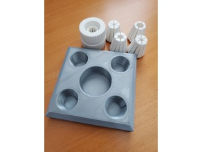 Tray for Collet Drill Stop plus 4 extra collets