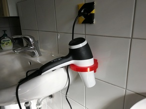 Blow-drier holder / wall mount