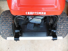 Tow Hitch Bar for a Craftsman R110 Rear Engine Riding Mower.