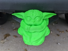 Baby Yoda Hitch Cover