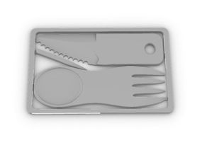 Couverts - Credit card knife & fork