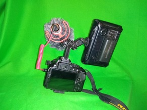 Dual Hotshoe riser extender adapter great for Rode Mic and DSLR Camera Light for video Nikon, Cannon etc.