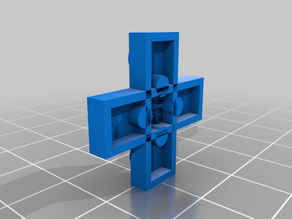 3x3 cross plate lego-like block