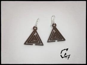 Triangle Labirynth Earrings