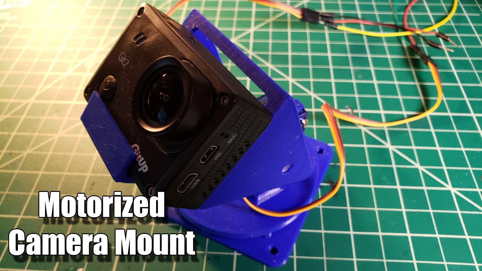 Motorized Pan and Tilt Gopro Mount