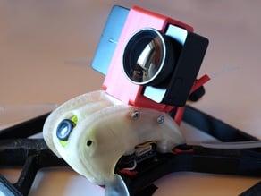 xevo x210 alternative pod with action cam mount (yi 4k)
