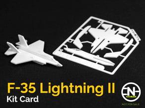 F-35 Lightning II Kit Card