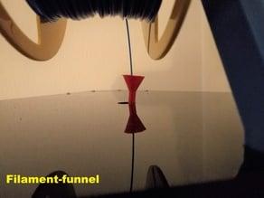 Filament funnel