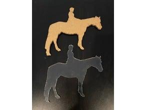 Laser Cut Horse Rider