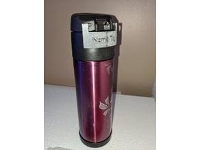 Thermos 18oz 530ml bottle Name Tag