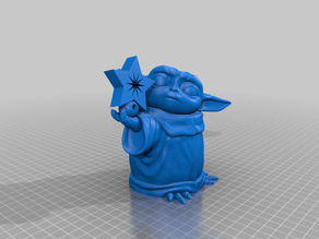 Baby Yoda With Star